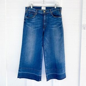McGuire high rise Wide Leg Crop Denim jeans Sz 31